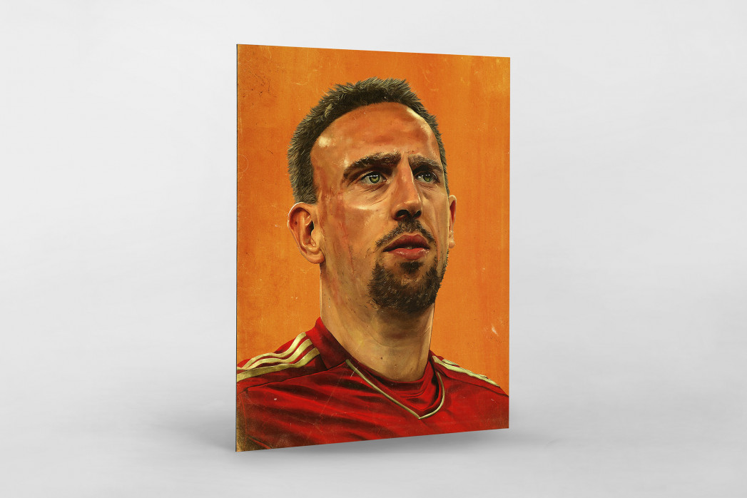 Franck Ribéry als auf Alu-Dibond kaschierter Fotoabzug