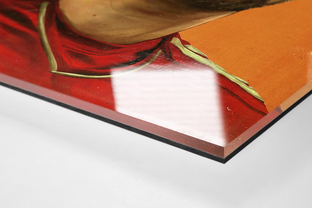 Franck Ribéry als Direktdruck auf Alu-Dibond hinter Acrylglas (Detail)