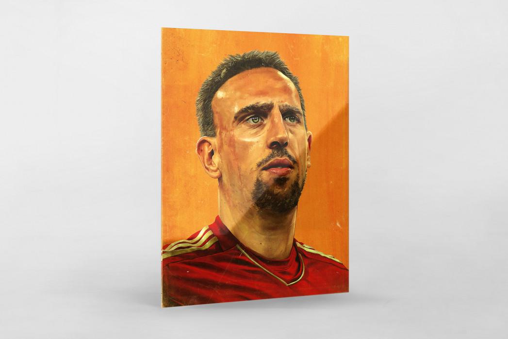 Franck Ribéry als Direktdruck auf Alu-Dibond hinter Acrylglas