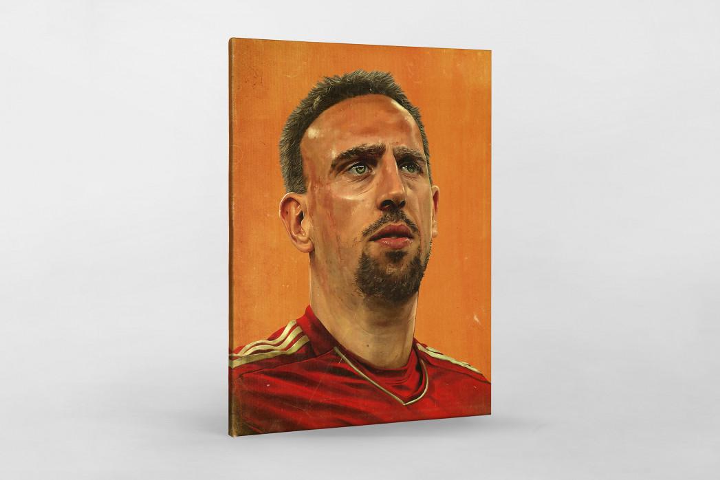 Franck Ribéry als Leinwand auf Keilrahmen gezogen