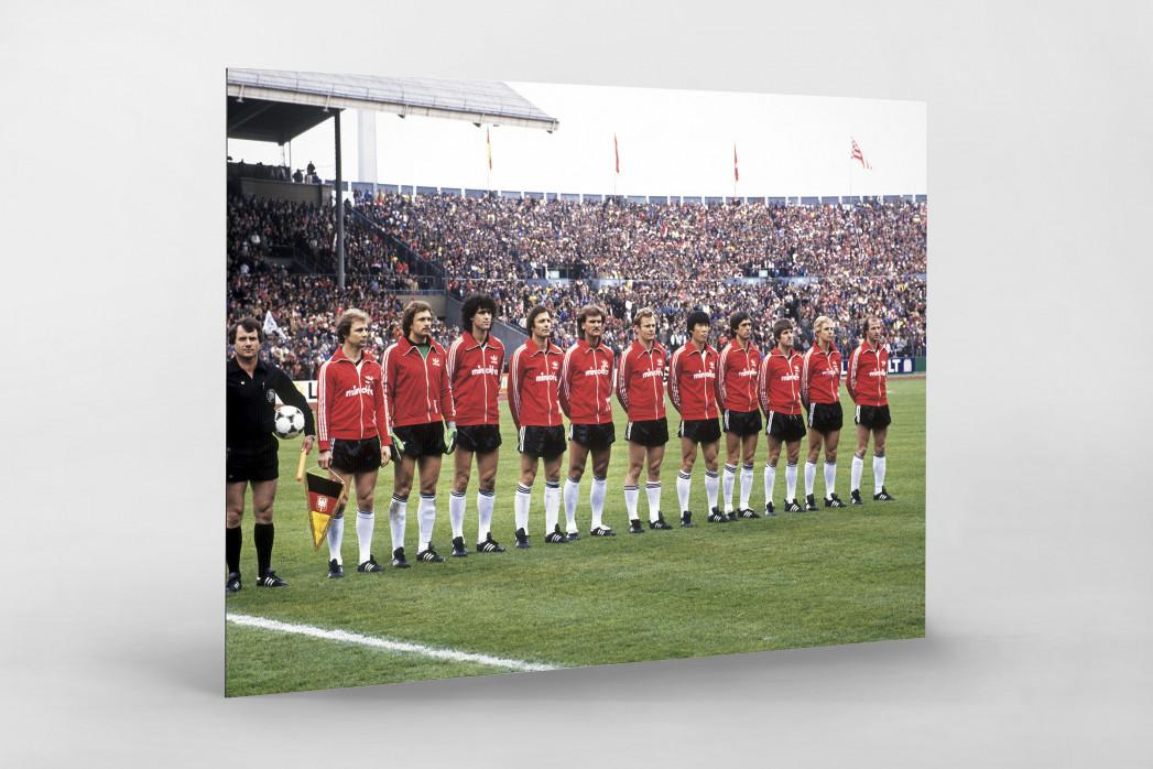 Frankfurt im Pokalfinale 1981 als auf Alu-Dibond kaschierter Fotoabzug
