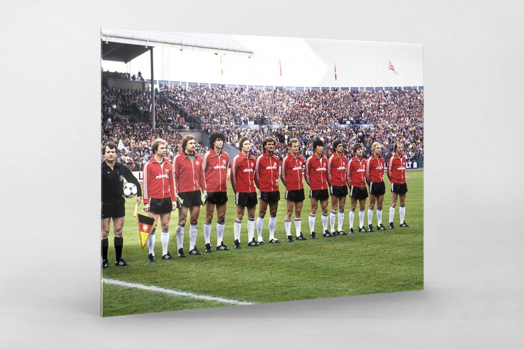 Frankfurt im Pokalfinale 1981 als Direktdruck auf Alu-Dibond hinter Acrylglas