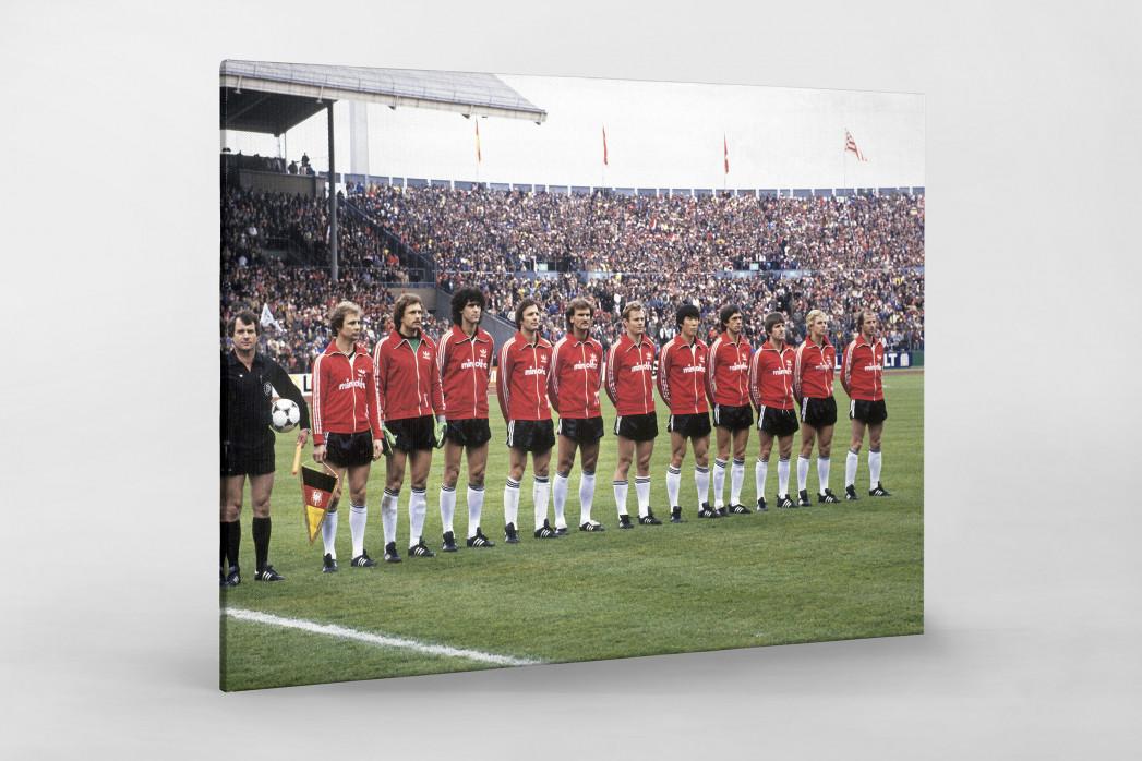 Frankfurt im Pokalfinale 1981 als Leinwand auf Keilrahmen gezogen