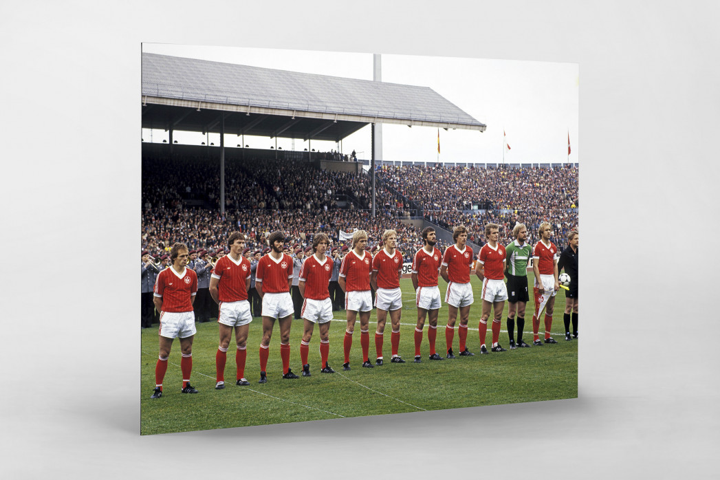 K'lautern im Pokalfinale 1981 als auf Alu-Dibond kaschierter Fotoabzug