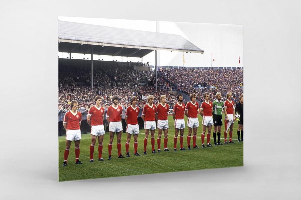 K'lautern im Pokalfinale 1981 als Direktdruck auf Alu-Dibond hinter Acrylglas