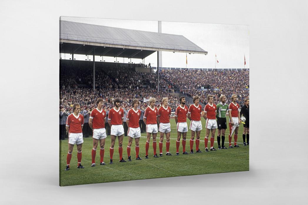 K'lautern im Pokalfinale 1981 als Leinwand auf Keilrahmen gezogen