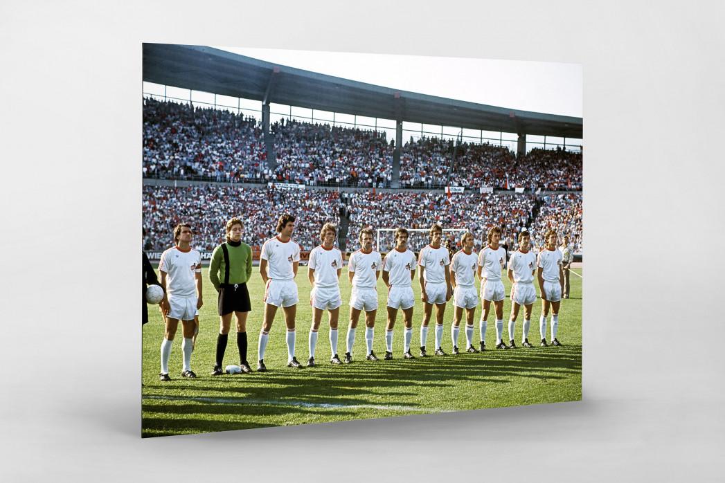 Köln im Pokalfinale als auf Alu-Dibond kaschierter Fotoabzug