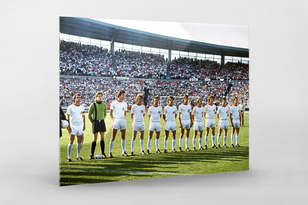 Köln im Pokalfinale als Direktdruck auf Alu-Dibond hinter Acrylglas