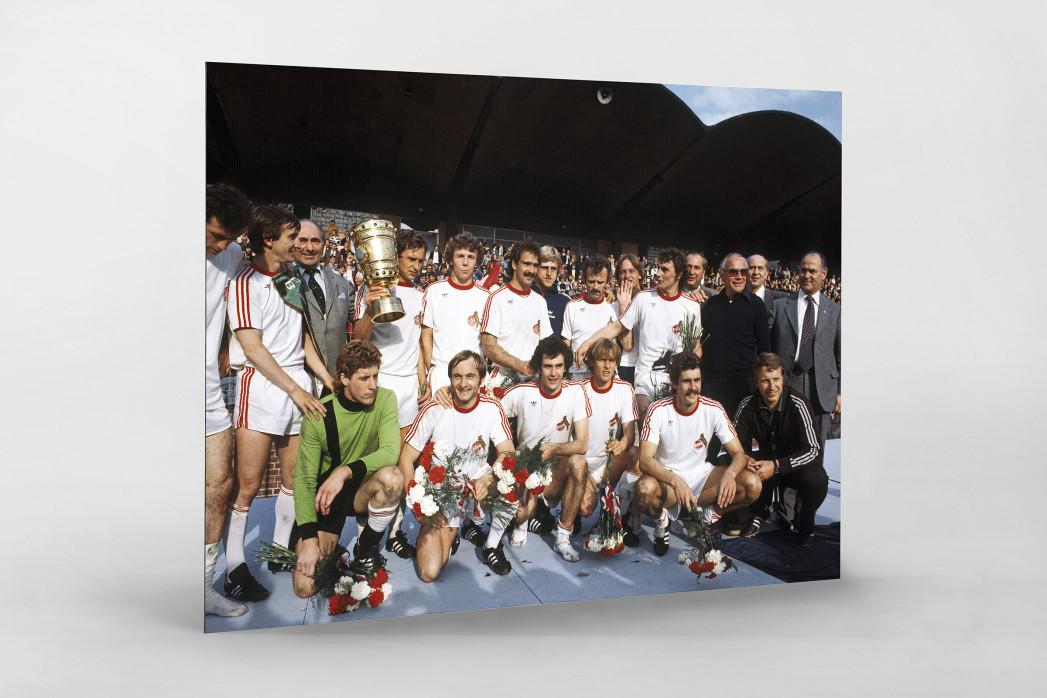 Kölner Pokaljubel als auf Alu-Dibond kaschierter Fotoabzug