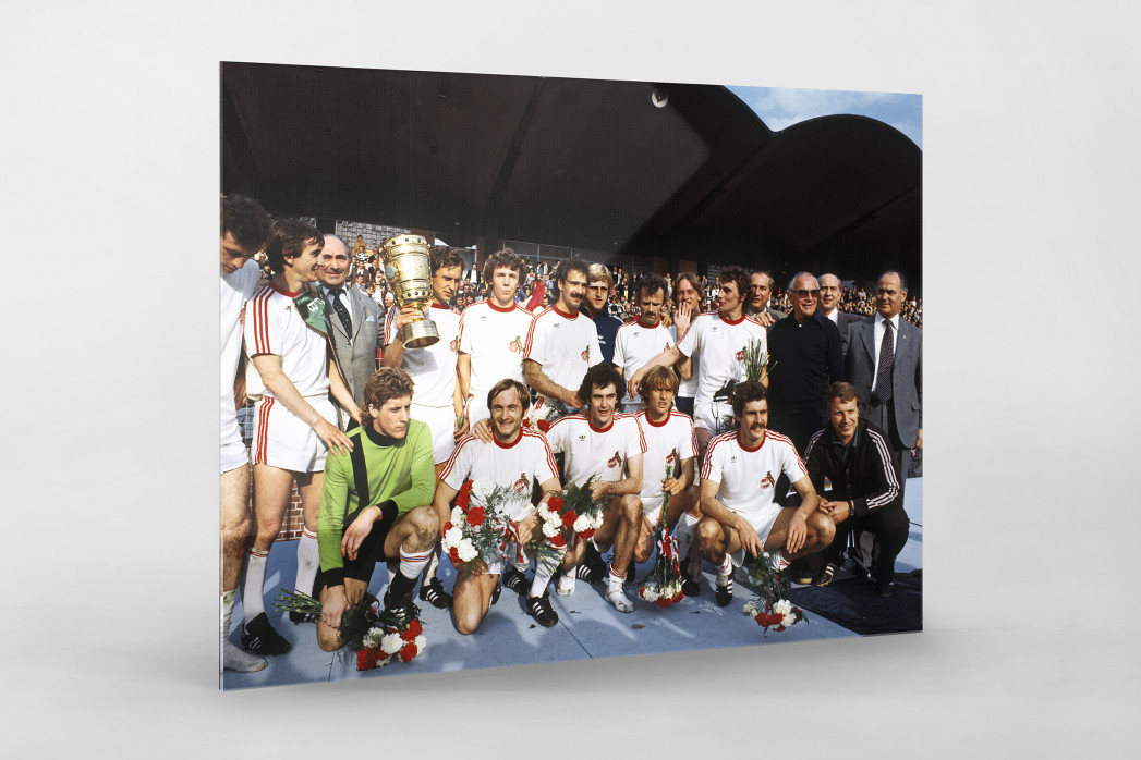 Kölner Pokaljubel als Direktdruck auf Alu-Dibond hinter Acrylglas