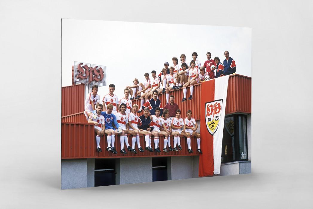 Stuttgart auf dem Dach als auf Alu-Dibond kaschierter Fotoabzug