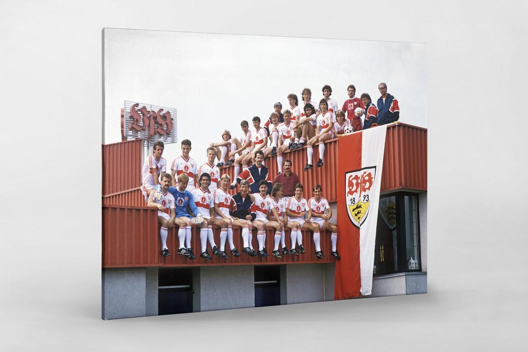Stuttgart auf dem Dach als Leinwand auf Keilrahmen gezogen