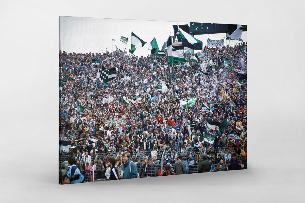 Mönchengladbach Fans 1984 als Leinwand auf Keilrahmen gezogen