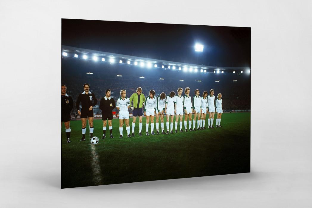M'gladbach im Rheinstadion als auf Alu-Dibond kaschierter Fotoabzug