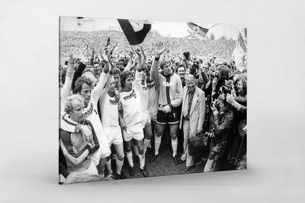 Mönchengladbach 1977 als Leinwand auf Keilrahmen gezogen