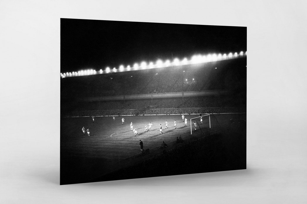 Highbury Flutlicht als auf Alu-Dibond kaschierter Fotoabzug