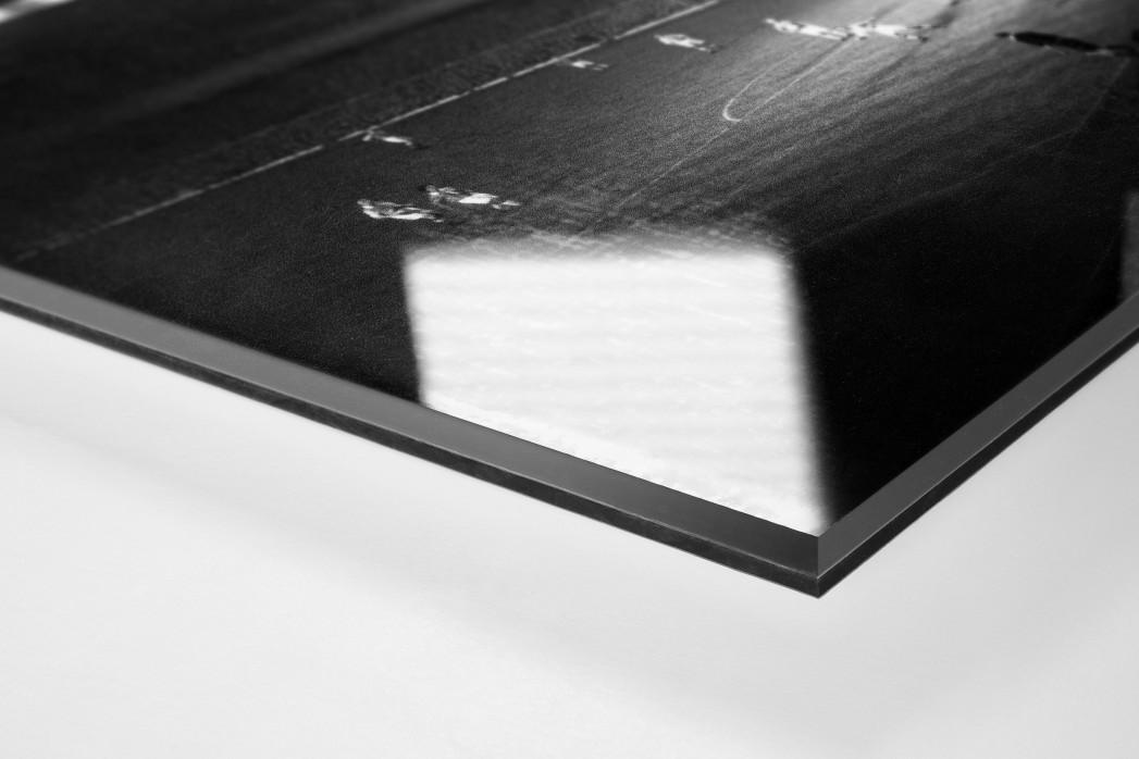 Highbury Flutlicht als Direktdruck auf Alu-Dibond hinter Acrylglas (Detail)