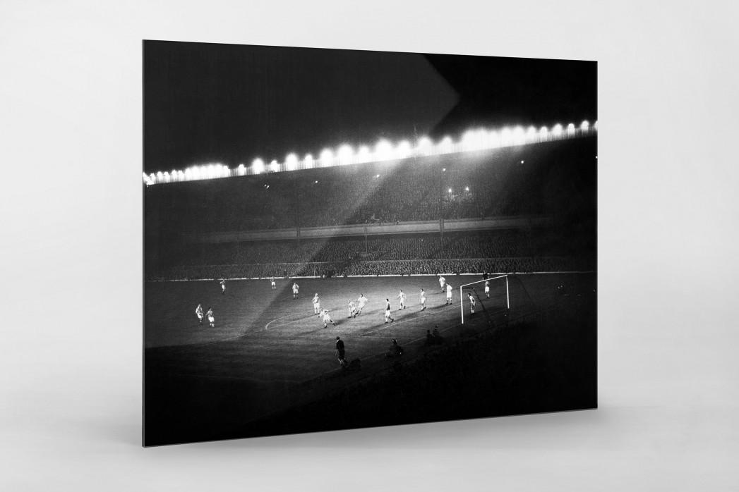 Highbury Flutlicht als Direktdruck auf Alu-Dibond hinter Acrylglas