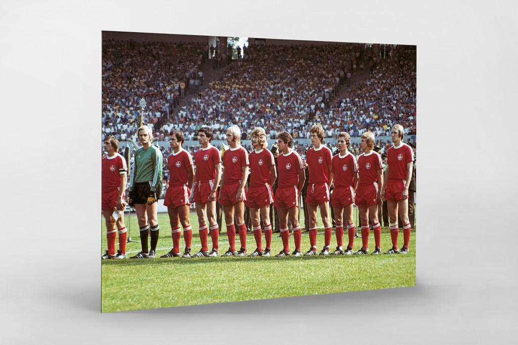 K'lautern im Pokalfinale 1976 als auf Alu-Dibond kaschierter Fotoabzug