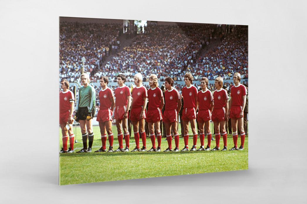 K'lautern im Pokalfinale 1976 als Direktdruck auf Alu-Dibond hinter Acrylglas