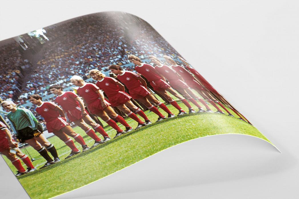 K'lautern im Pokalfinale 1976 als FineArt-Print