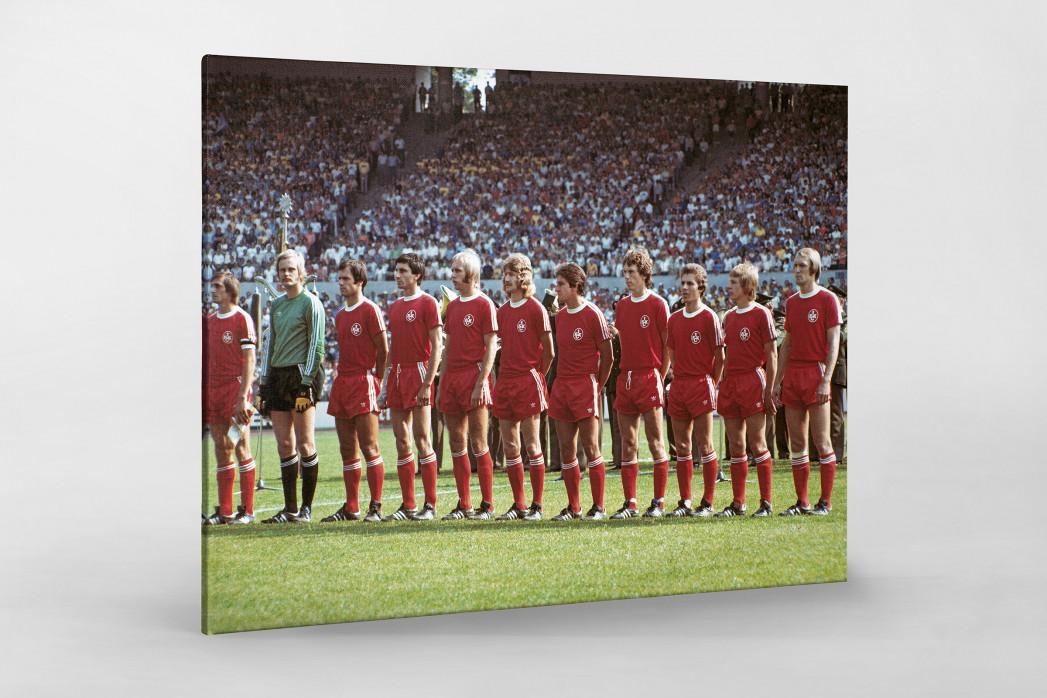 K'lautern im Pokalfinale 1976 als Leinwand auf Keilrahmen gezogen