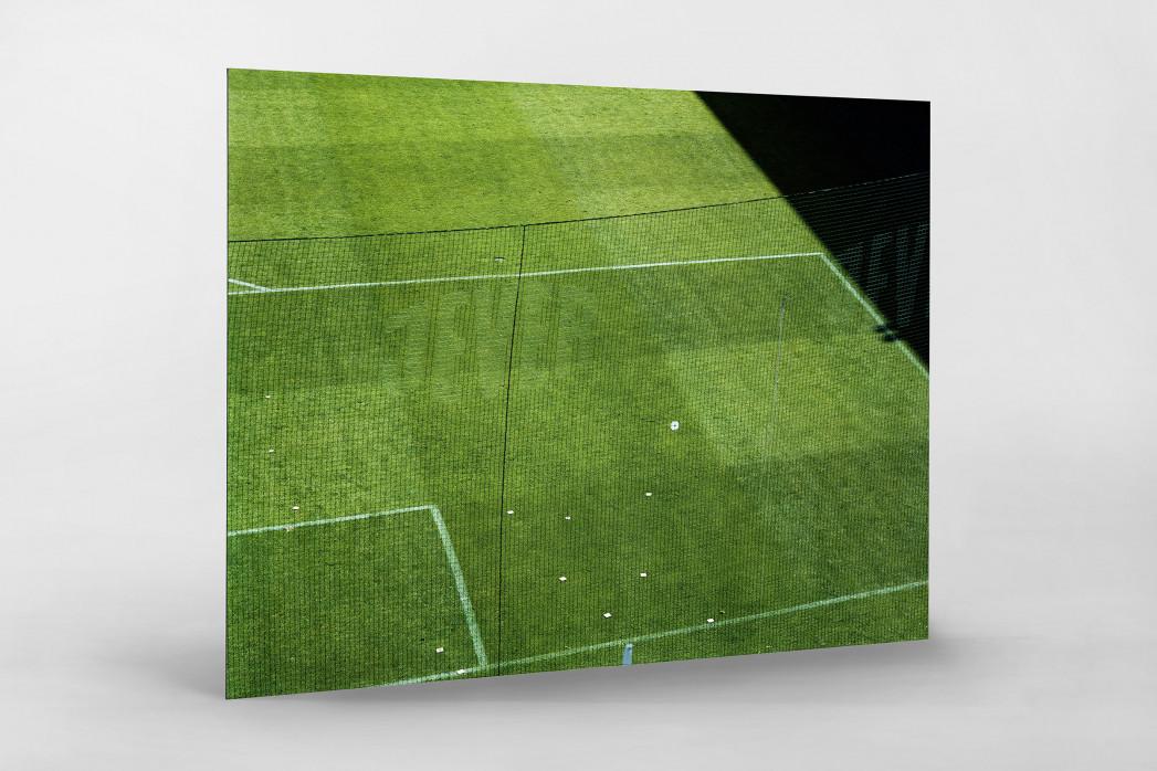 Spielfeldausschnitt Bökelberg als auf Alu-Dibond kaschierter Fotoabzug