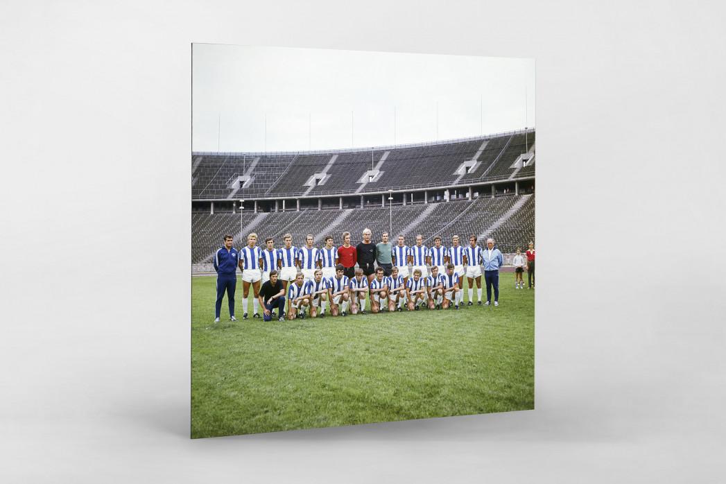 Hertha 1970/71 als auf Alu-Dibond kaschierter Fotoabzug