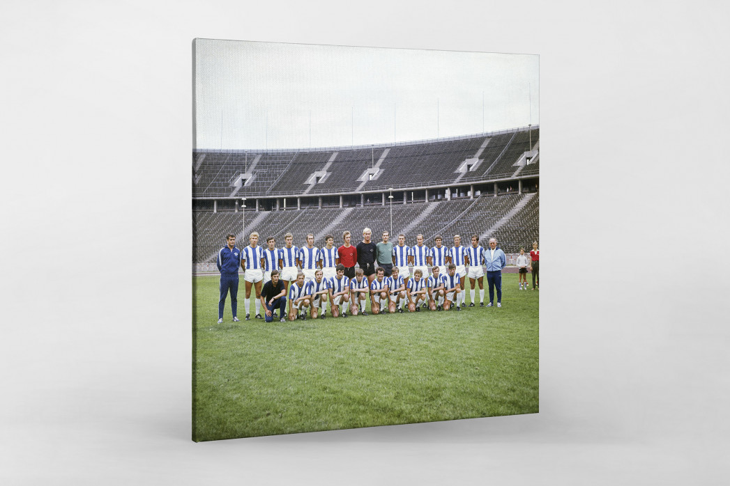 Hertha 1970/71 als Leinwand auf Keilrahmen gezogen