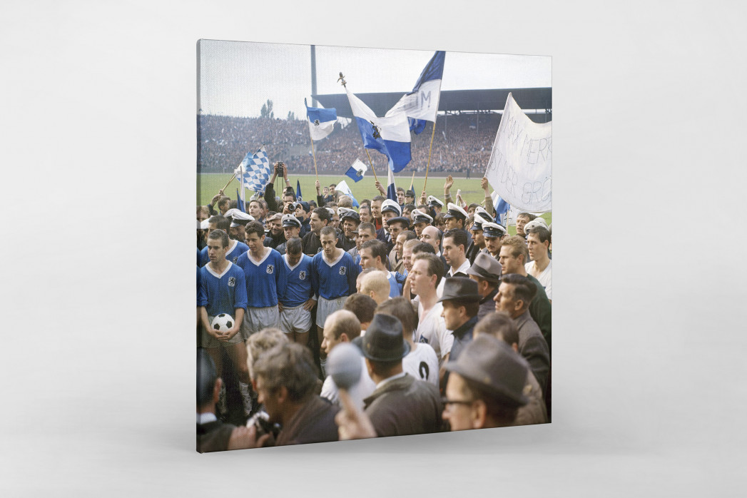 1860 München 1966 (1) als Leinwand auf Keilrahmen gezogen