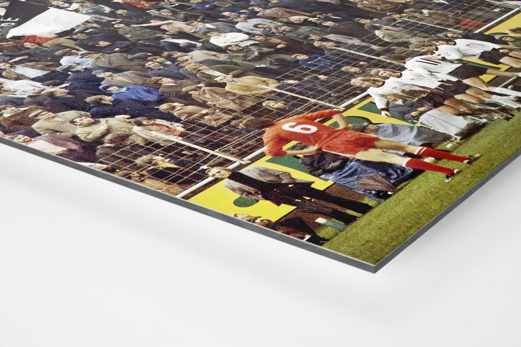 Frankfurter Torjubel als auf Alu-Dibond kaschierter Fotoabzug (Detail)