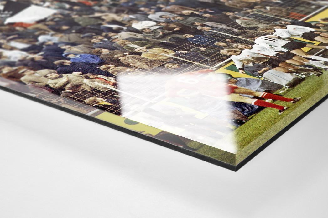 Frankfurter Torjubel als Direktdruck auf Alu-Dibond hinter Acrylglas (Detail)