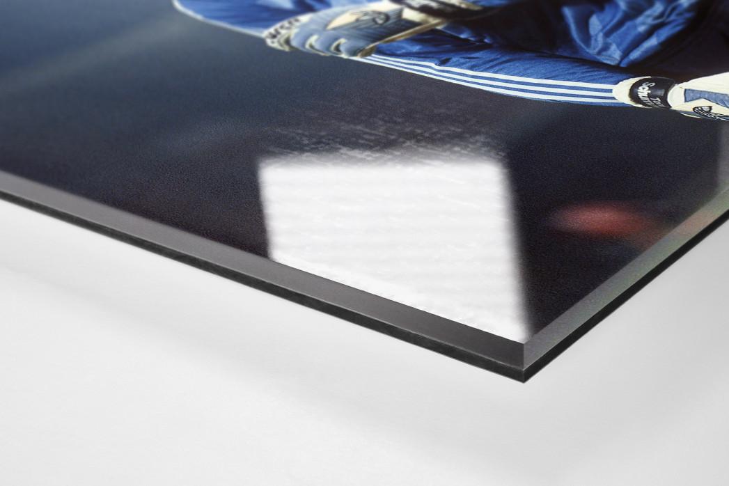 Toni Schumacher (2) als Direktdruck auf Alu-Dibond hinter Acrylglas (Detail)