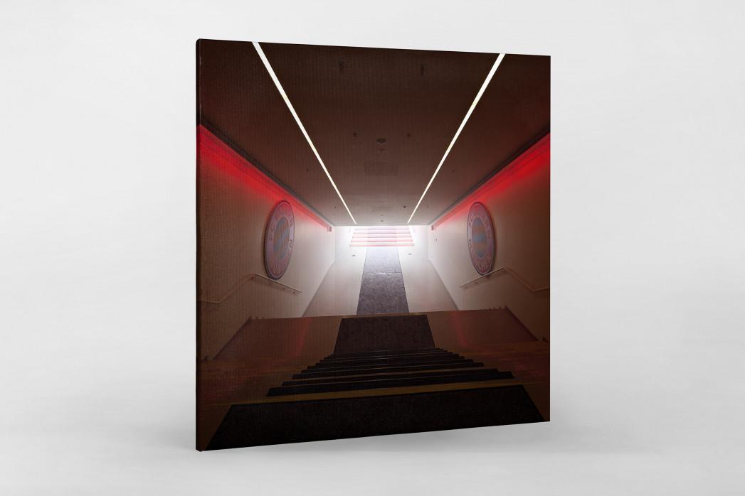 Spielertunnel Allianz Arena als Leinwand auf Keilrahmen gezogen