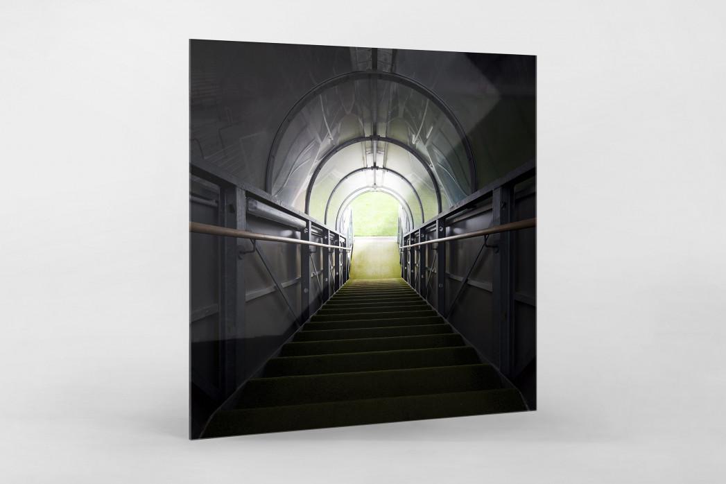 Spielertunnel Alte Försterei als Direktdruck auf Alu-Dibond hinter Acrylglas
