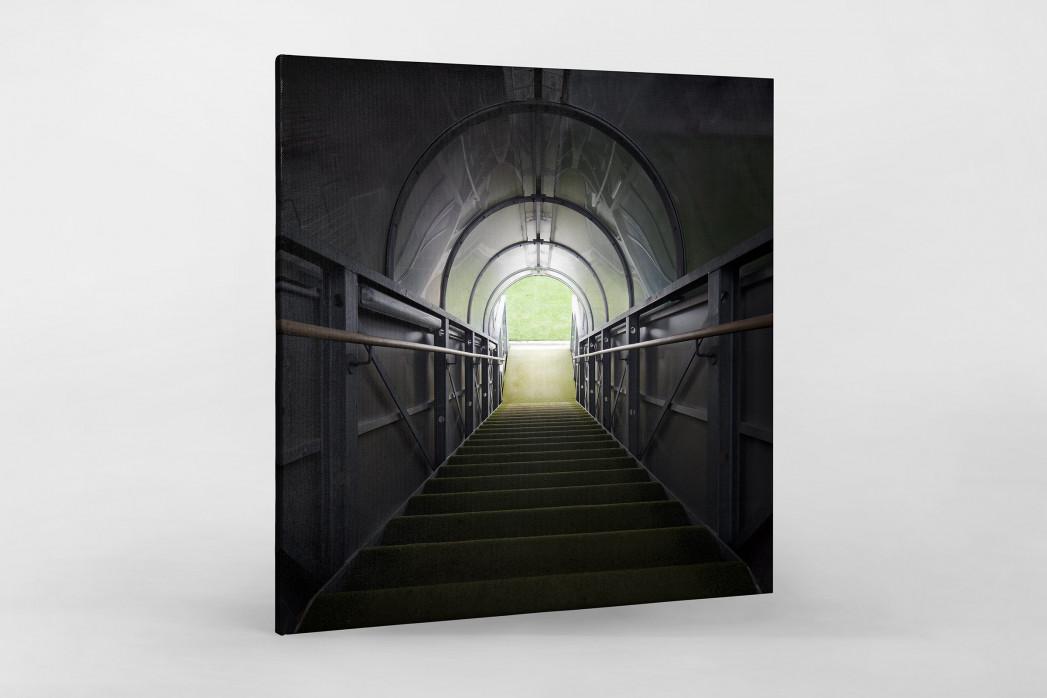 Spielertunnel Alte Försterei als Leinwand auf Keilrahmen gezogen