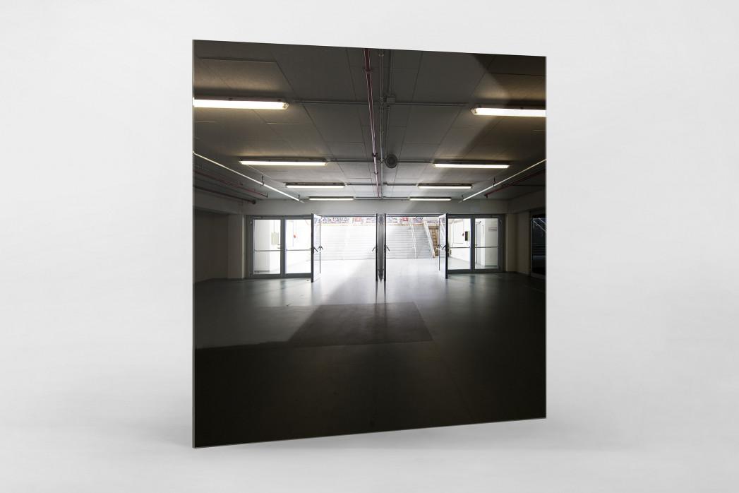 Spielertunnel ESPRIT arena als Direktdruck auf Alu-Dibond hinter Acrylglas