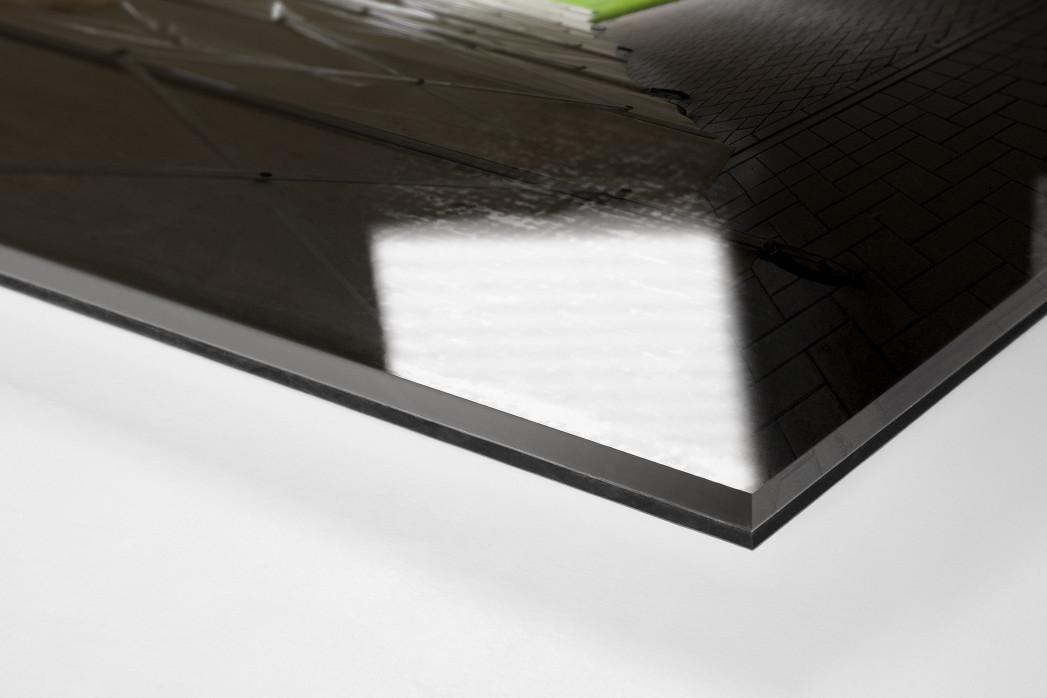 Spielertunnel Millerntor als Direktdruck auf Alu-Dibond hinter Acrylglas (Detail)