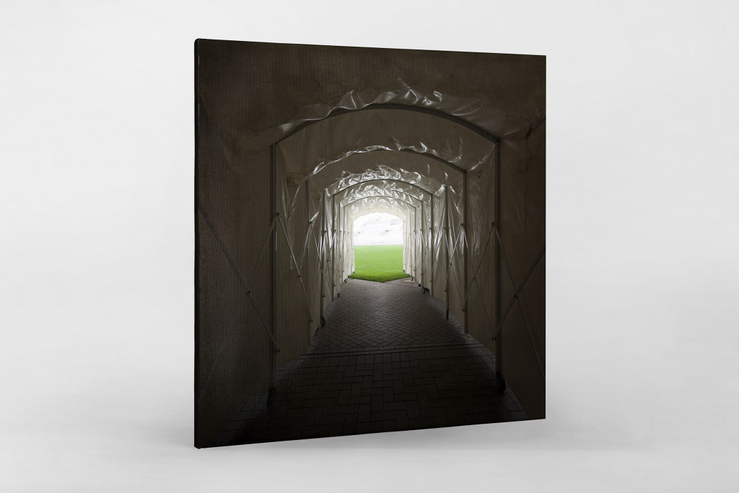 Spielertunnel Millerntor als Leinwand auf Keilrahmen gezogen