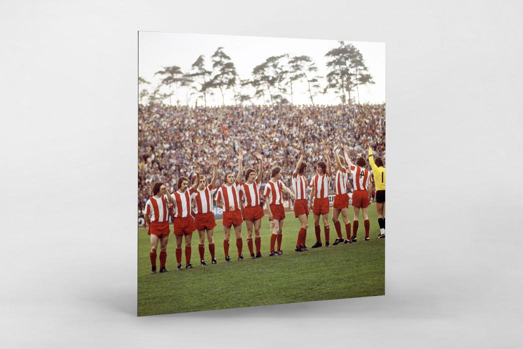 Fortuna Köln 1973 als auf Alu-Dibond kaschierter Fotoabzug