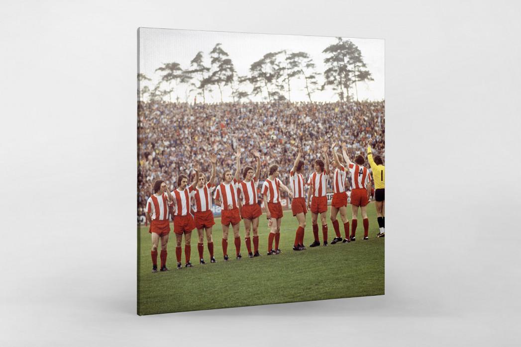 Fortuna Köln 1973 als Leinwand auf Keilrahmen gezogen