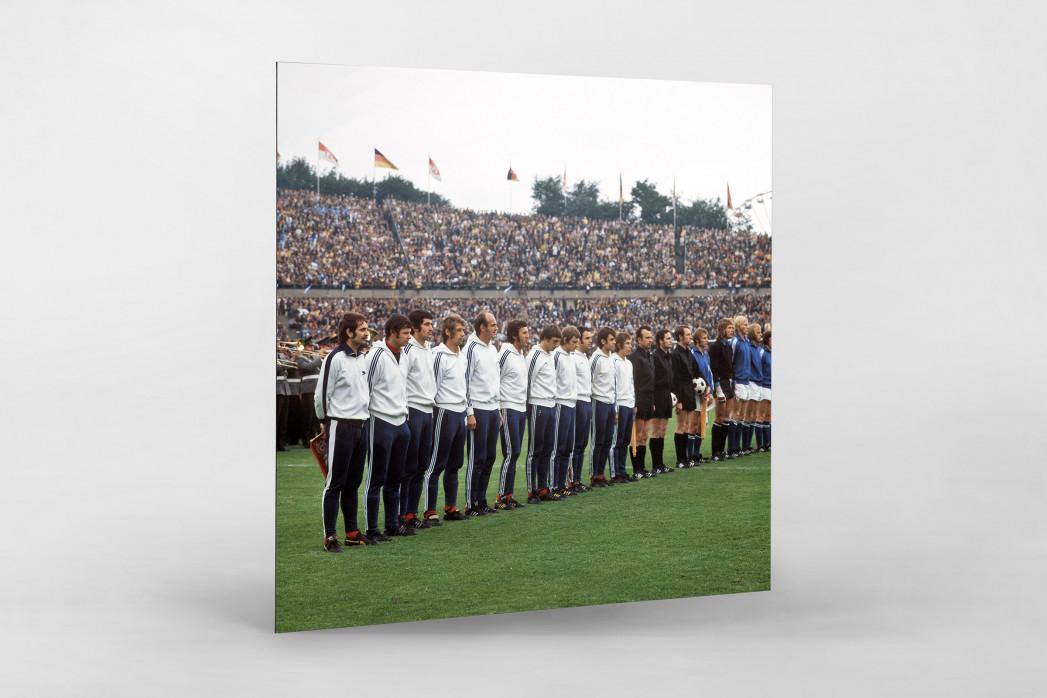 K'lautern im Pokalfinale 1972 als auf Alu-Dibond kaschierter Fotoabzug