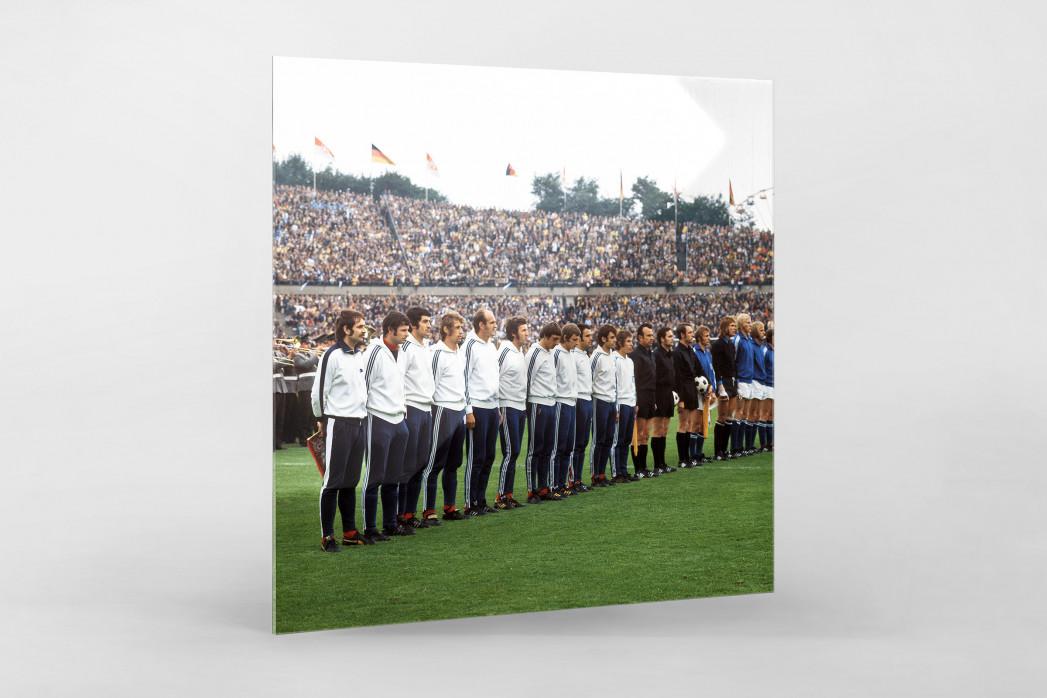K'lautern im Pokalfinale 1972 als Direktdruck auf Alu-Dibond hinter Acrylglas