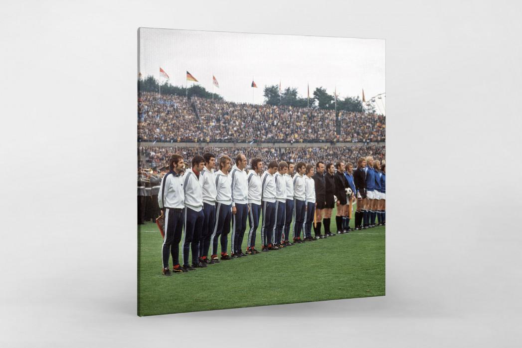 K'lautern im Pokalfinale 1972 als Leinwand auf Keilrahmen gezogen