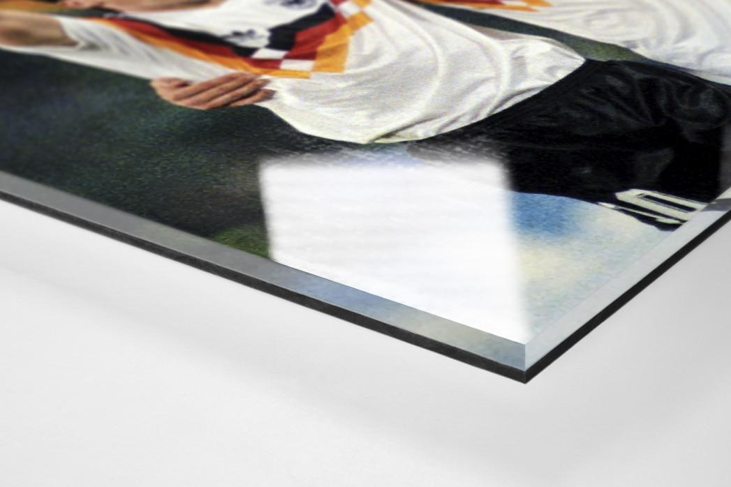 Lothar und Rudi als Direktdruck auf Alu-Dibond hinter Acrylglas (Detail)