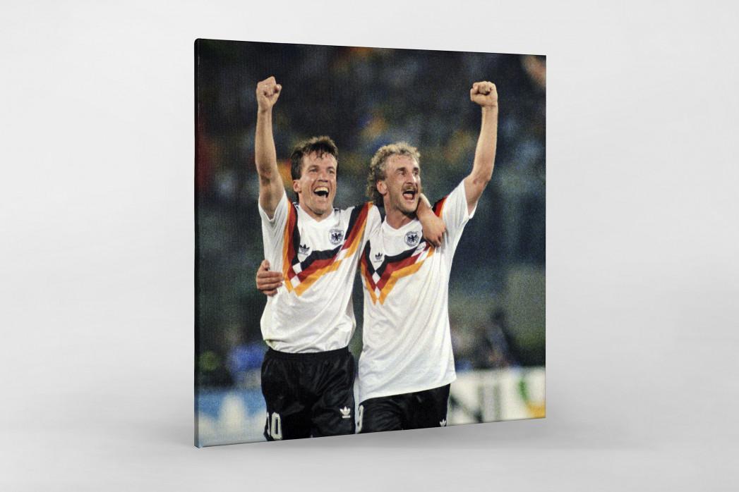 Lothar und Rudi als Leinwand auf Keilrahmen gezogen