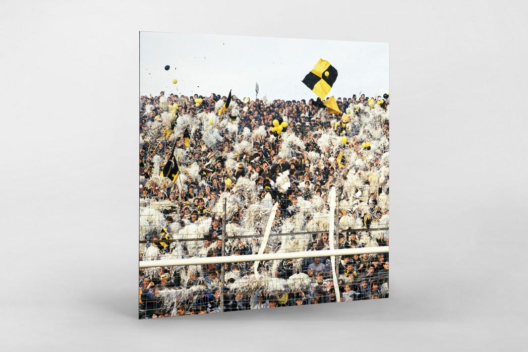 Aachen Fans 1984 als auf Alu-Dibond kaschierter Fotoabzug