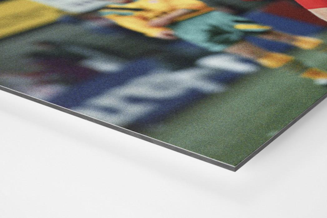 Wassmers Torjubel als auf Alu-Dibond kaschierter Fotoabzug (Detail)