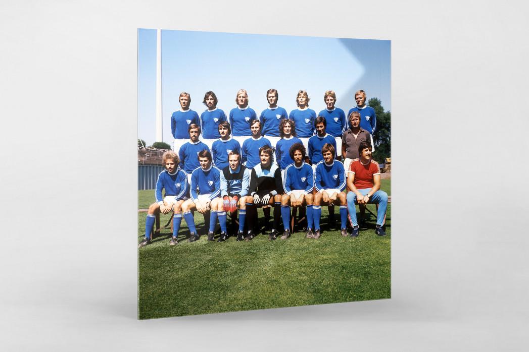 Bochum 1976/77 als Direktdruck auf Alu-Dibond hinter Acrylglas