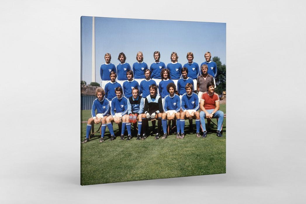Bochum 1976/77 als Leinwand auf Keilrahmen gezogen